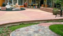Custom Colored Concrete Patio