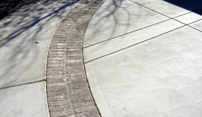 Concrete and Brick Driveway